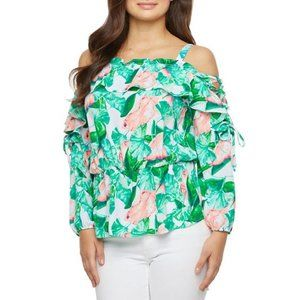 BOLD Elements Long Sleeve Cold Shoulder Blouse